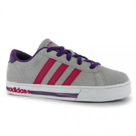adidas Daily Team Suede Trainers Junior Girls ClearOnix/Pink