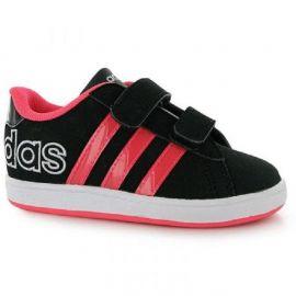 adidas Derby Logo Infant Girls Trainers Black/RedZest