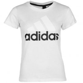 adidas Linear QT T Shirt Ladies White/Black