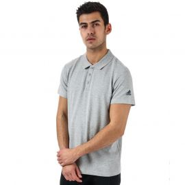 Adidas Mens Essentials Basic Polo Shirt Grey Heather