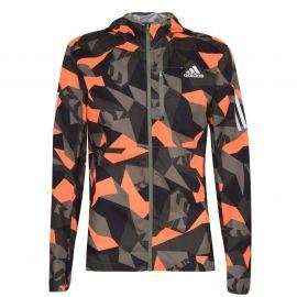 adidas Mens Response Own The Run Jacket Green/Orange
