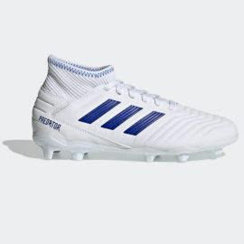 adidas Predator 19.3 Junior FG Football Boots Boys White/BoldBlue
