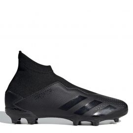 adidas Predator 20.3 Laceless Junior FG Football Boots Black/Black