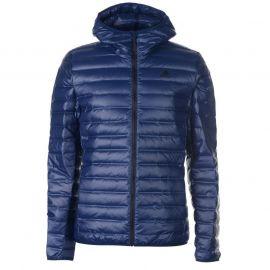 adidas Varilite Down Hooded Jacket Mens Navy