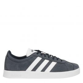 adidas VL Court 2 Suede Shoes Mens Navy/White