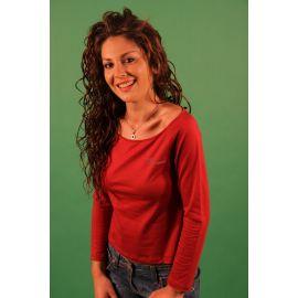 BLUMARINE tričko s dlouhým rukávem ROSSO