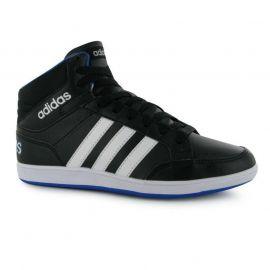 Boty adidas Hoops Mid Junior Hi Top Trainers Black/Wht/Blue