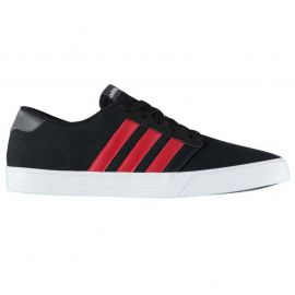Boty adidas VS Skate Mens Canvas Trainers Black/Red
