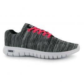 Boty Fabric Flyer Ladies Runner Trainers Hot Pink