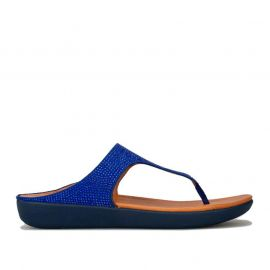 Boty Fit Flop Womens Banda Crystalled Toe Thong Sandals Blue