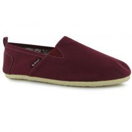 Boty Lee Cooper Canvas Slip On Shoes Mens Burgundy