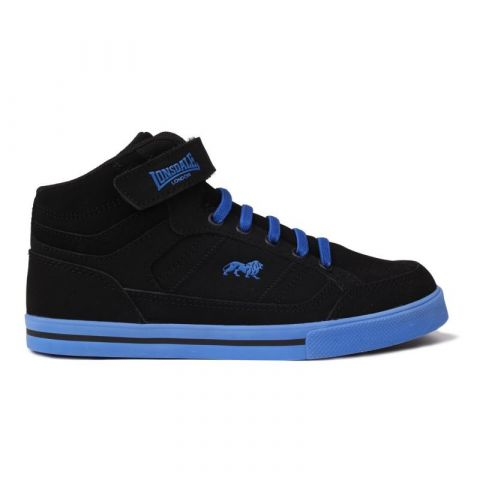 Boty Lonsdale Canons Childrens Hi Top Trainers Black/Blue