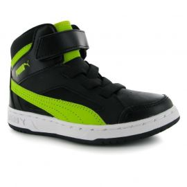 Boty Puma Rebound Mid Childs Trainers Boys Black