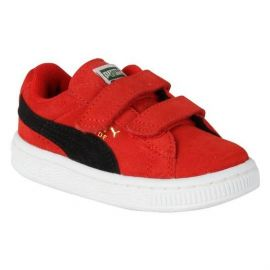 Boty Puma Suede 2 Strap Infant Trainers Red/Black/Gold