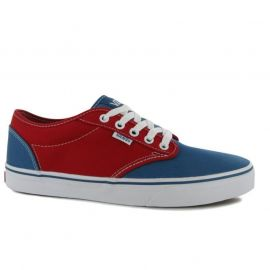 Boty Vans Atwood 2 Tone Canvas Shoes Red/Blue
