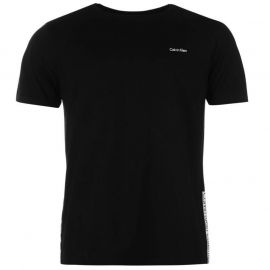 Calvin Klein Taped Crew TShirt Mens Black