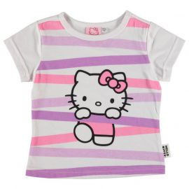 Character Short Sleeve T Shirt Infant Girls Hello Kitty