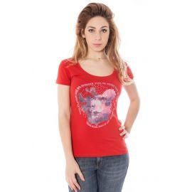 COSTUME NATIONAL tričko s krátkým rukávem ROSSO