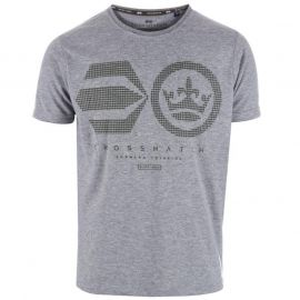 Crosshatch Mens Crisscross T-Shirt Grey Marl