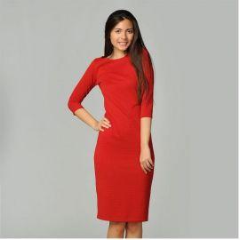 Dámské šaty Miso Rib Slv - Deep Red