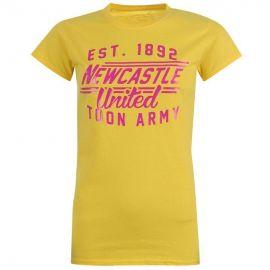 Dámské tričko NUFC Glitter- Žluté