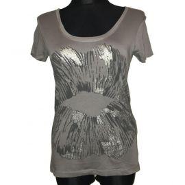 Dámské tričko Replay s potiskem Kiss šedá