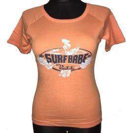 Dámské tričko s krátkým rukávem Surfbabe oranžová
