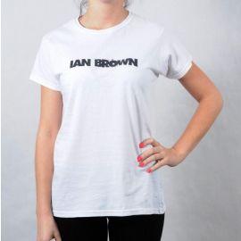 Dámské triko Gildan - Ian Brown bílá