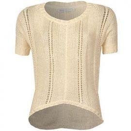 Dámský svetr Only Allie Cropped Knit - Béžový