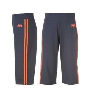 Dětké capri kalhoty Lonsdale Navy/toxic red