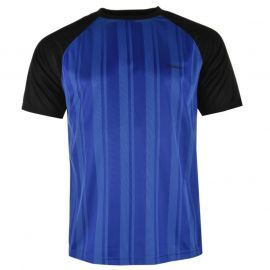 Donnay Poly T Shirt Mens Royal/Black
