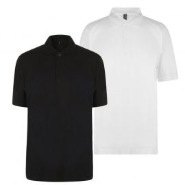 Donnay Two Pack Polo Shirts Mens White/Black