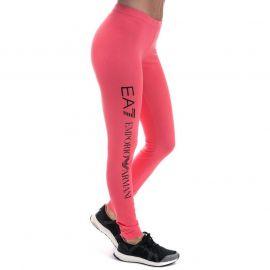 Emporio Armani EA7 Womens Train Logo Series Leggings Coral