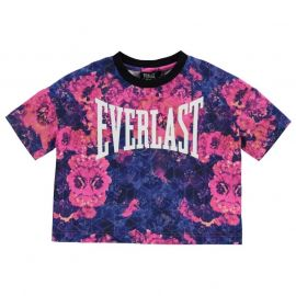 Everlast Boxy T Shirt Junior Girls Floral/White