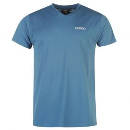 Giorgio Essential V Neck T Shirt Mens Steel Blue