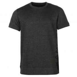 Kangol Fleece T Shirt Mens Charcoal Marl