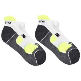 Karrimor 2 Pack Running Socks Mens White/Fluo
