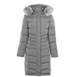 Karrimor Long Down Jacket Ladies Grey Marl