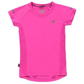 Karrimor Short Sleeved Running Top Girls Bright Pink
