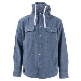 Košile Ripstop Junior Boys Equal Funnel Neck Shirt Blue
