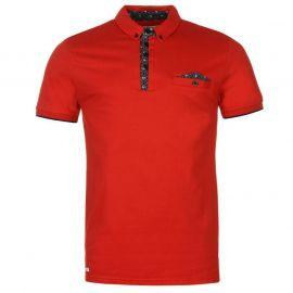 Lambretta Woven Polo Shirt Mens Red