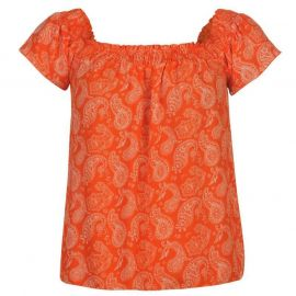 Lee Cooper AOP Bardot Top Ladies AOP Paisley