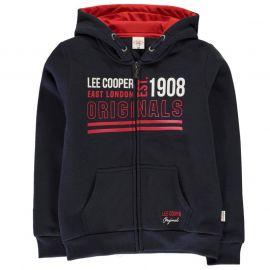 Lee Cooper Bright Zip Hoodie Junior Boys Navy