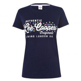 Lee Cooper Classic T Shirt Ladies Navy Auth