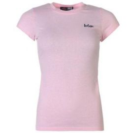 Lee Cooper Crew Neck T Shirt Ladies Pink