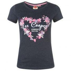 Lee Cooper Fashion T Shirt Ladies Navy Marl