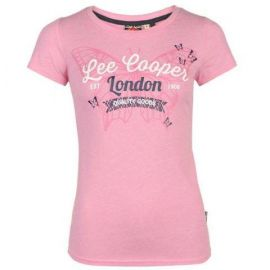 Lee Cooper Fashion T Shirt Ladies Soft Pink M