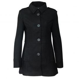 Lee Cooper Smart Wool Blend Coat Ladies Black