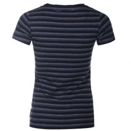 Lee Cooper Yarn Dye Crew T Shirt Ladies Navy
