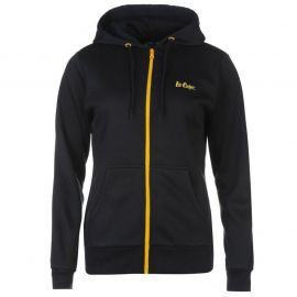 Lee Cooper Zip Hoody Ladies Black/Yellow